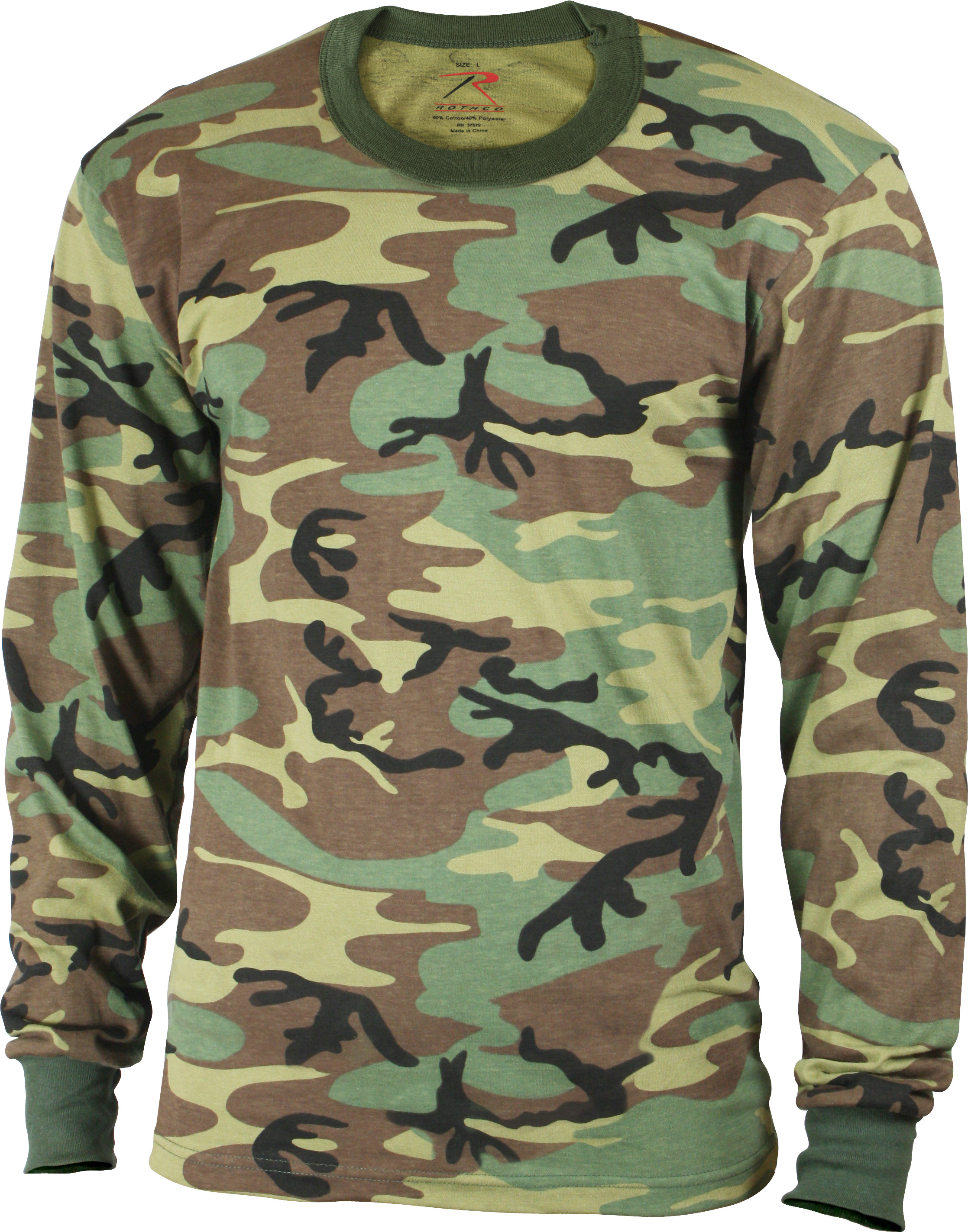 Kids Woodland Camouflage Tactical Camo Long Sleeve T-Shirt Crew ... f245eb240be