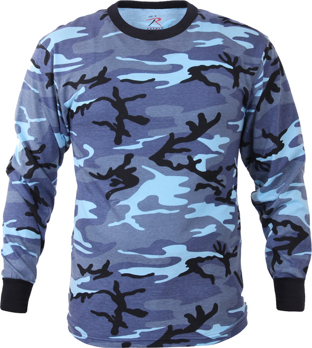 Sky Blue Camouflage Tactical Long Sleeve Military T-Shirt 1ceb9989f6d