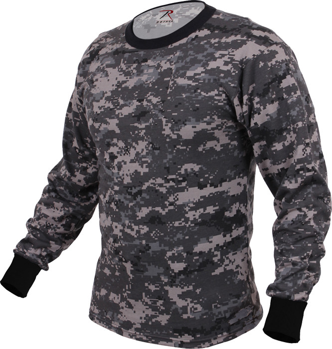 Subdued Urban Digital Camouflage Tactical Long Sleeve Military T-Shirt 0048073af95