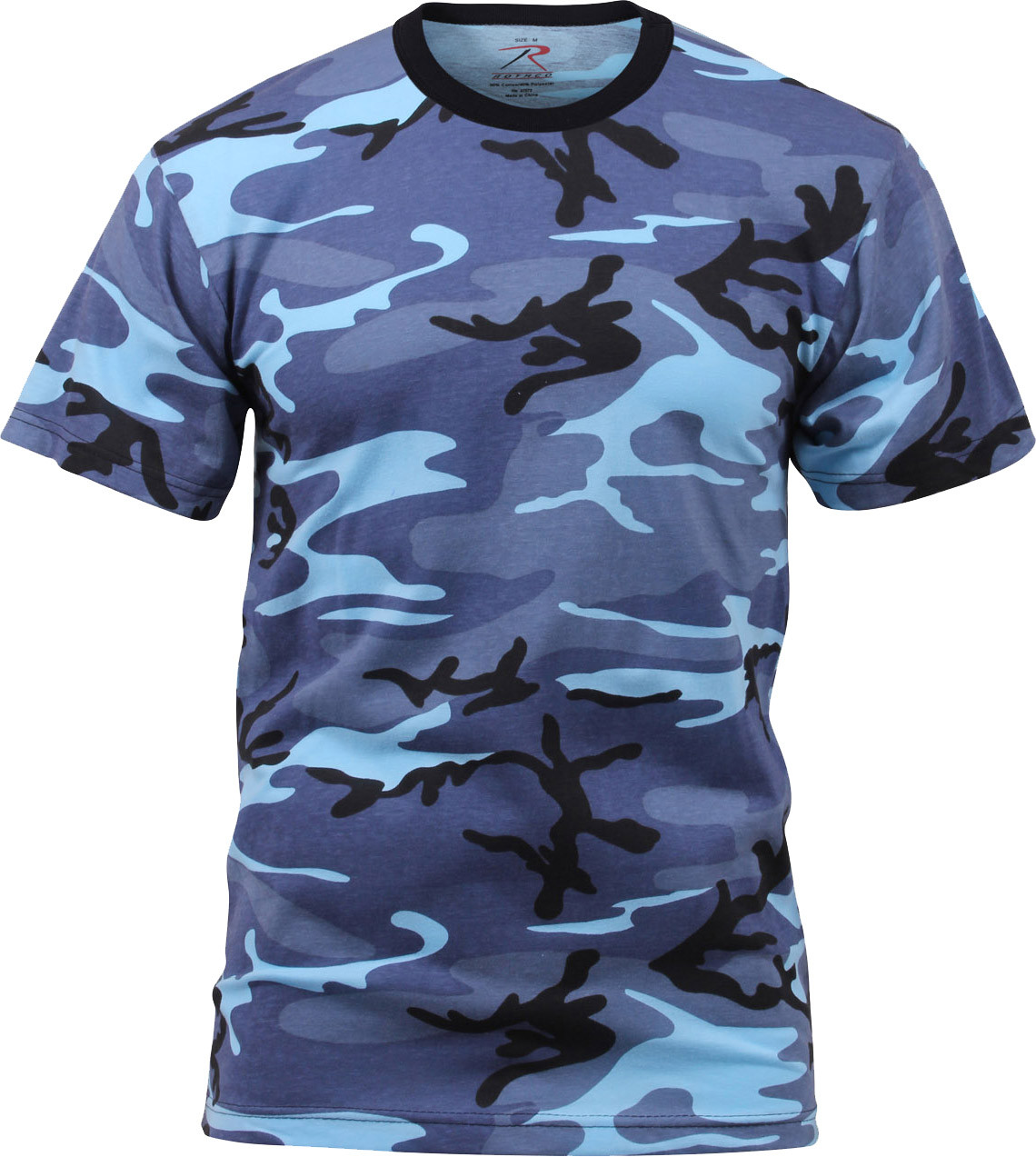 More Views. Sky Blue Camouflage Military Short Sleeve T-Shirt ... 03bf98f15b1