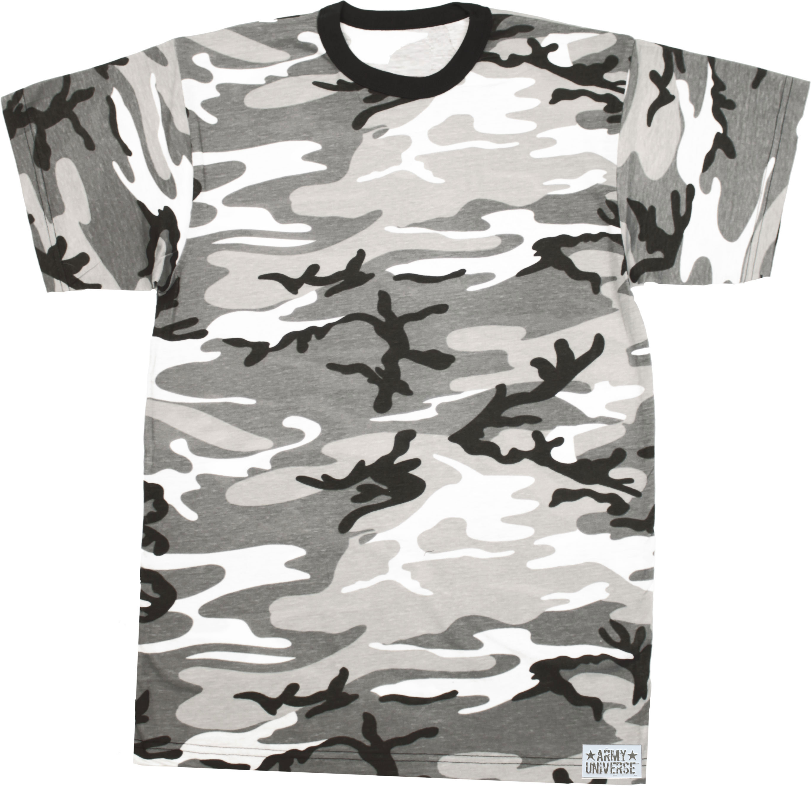 More Views. Camouflage Military Crewneck Short Sleeve T Shirt w   ArmyUniverse® Pin 90d6d617c5c