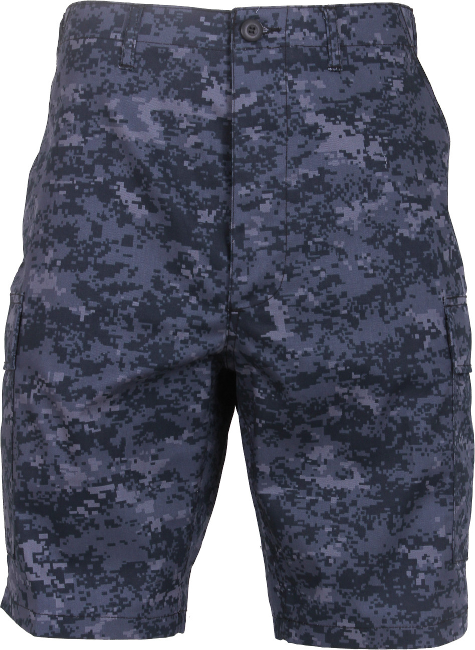 Midnight Digital Camouflage Combat Military Cargo BDU Shorts c8aad29150a