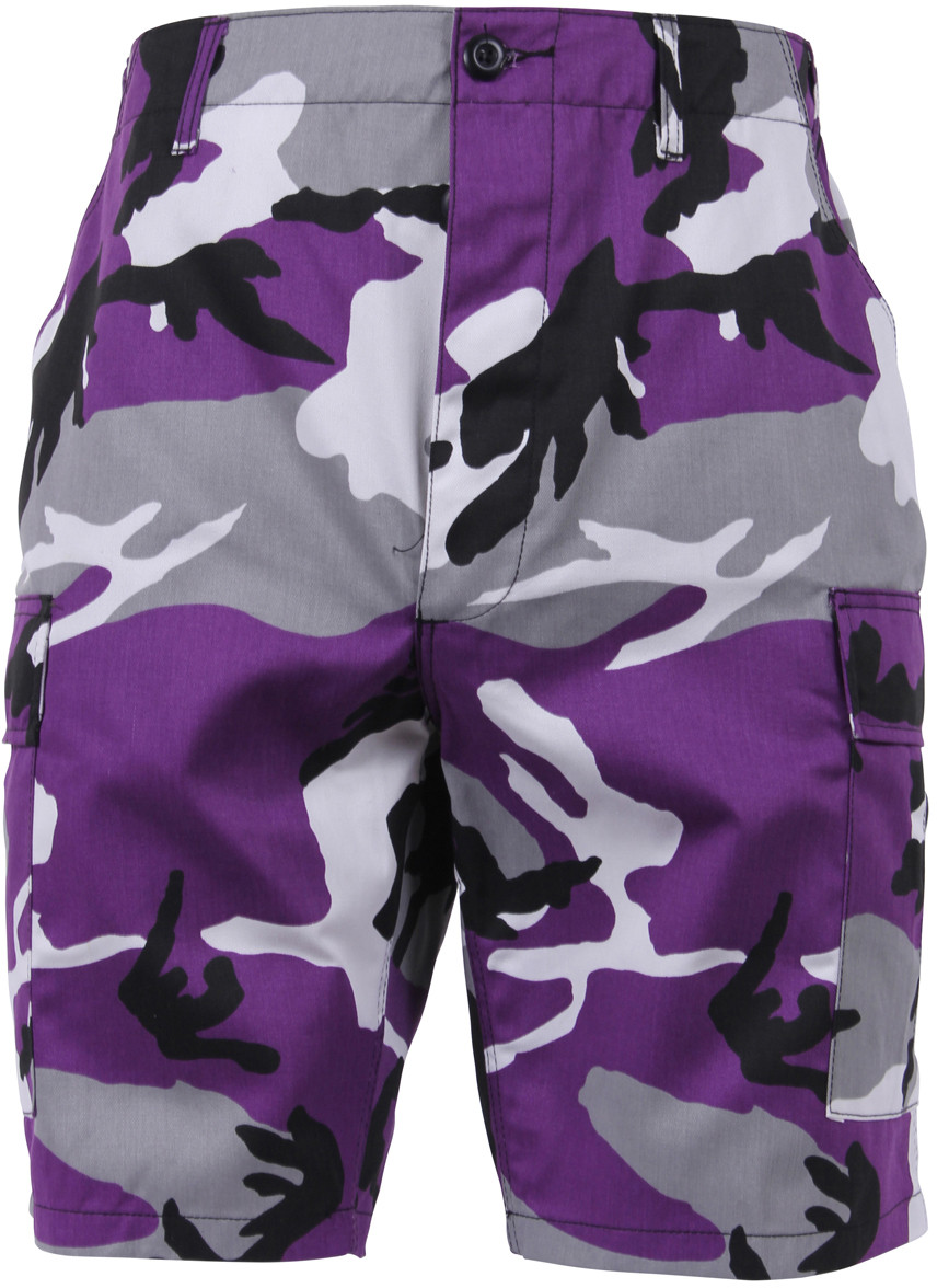 Ultra Violet Purple Camouflage Cargo Military BDU Shorts 869ab5d16