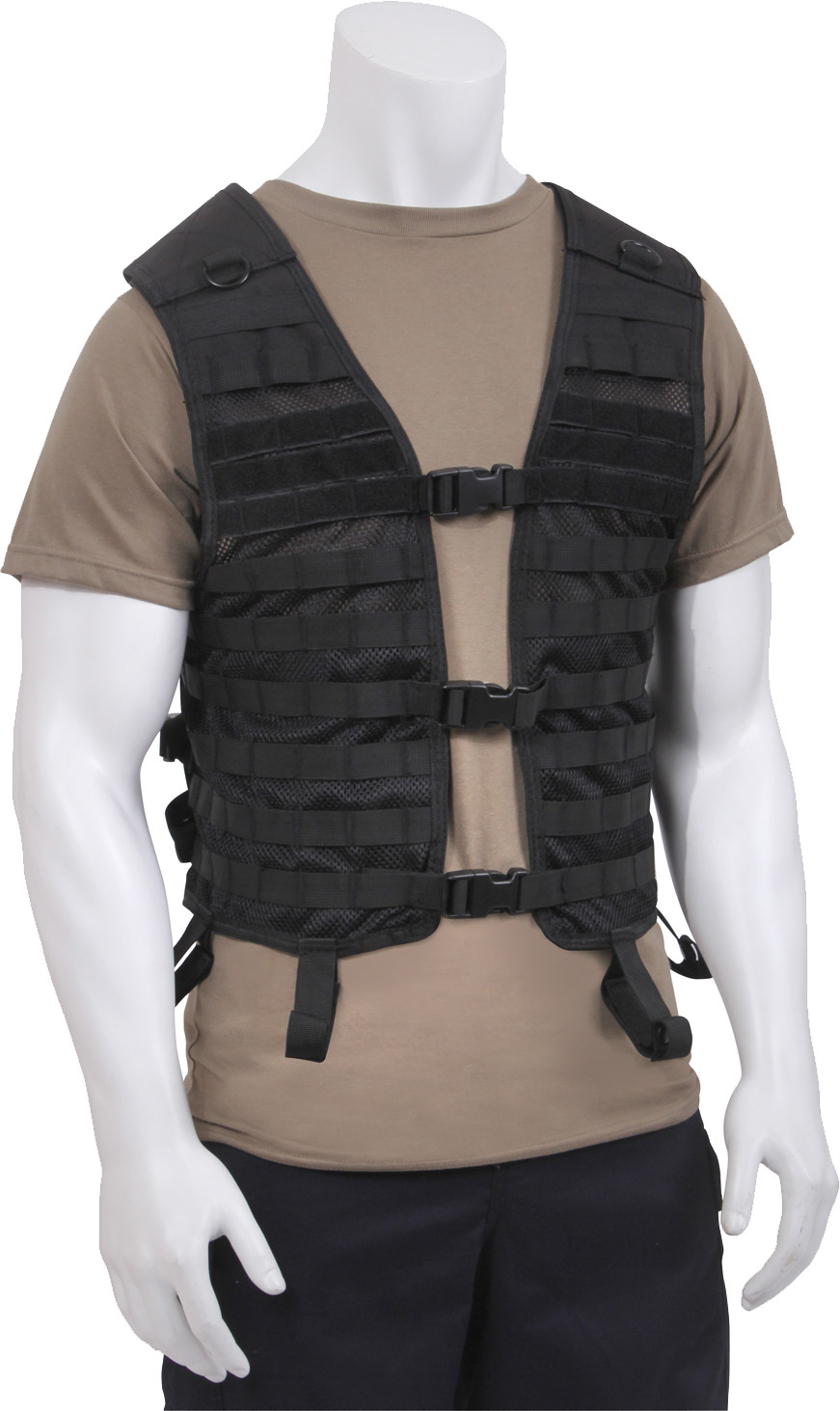 Black Military MOLLE Adjustable Lightweight Mesh Tactical Utility Vest 73a3c7c356a