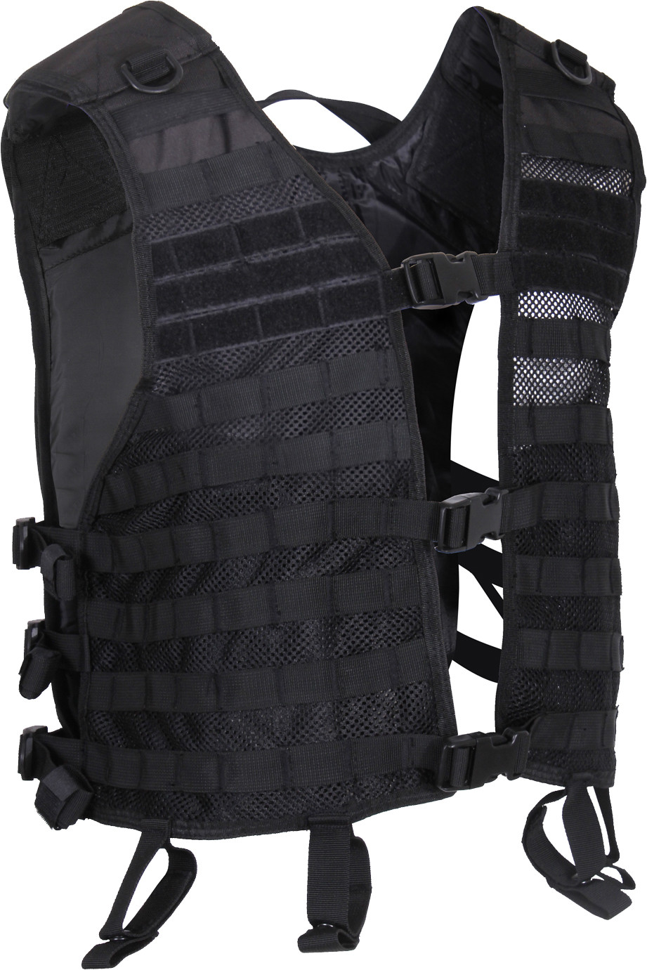 More Views. Black Military MOLLE Adjustable Lightweight Mesh Tactical  Utility Vest ... c0a9d34a267