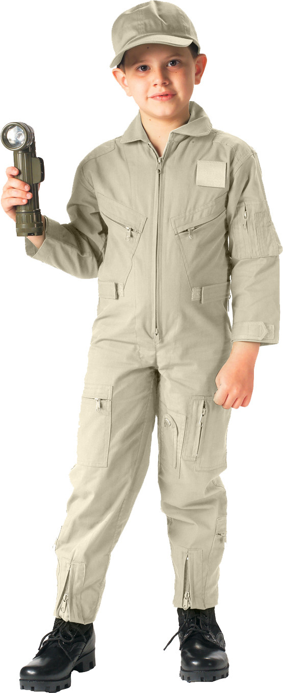 More Views. Kids Khaki US Air Force Style Military Costume Flight Suit 19f46ae1624
