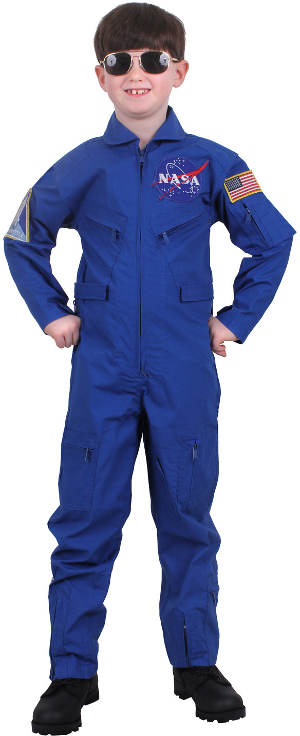 Kids Royal Blue NASA Space Shuttle Air US Flight Suit Coveralls with Patches a86918ac344
