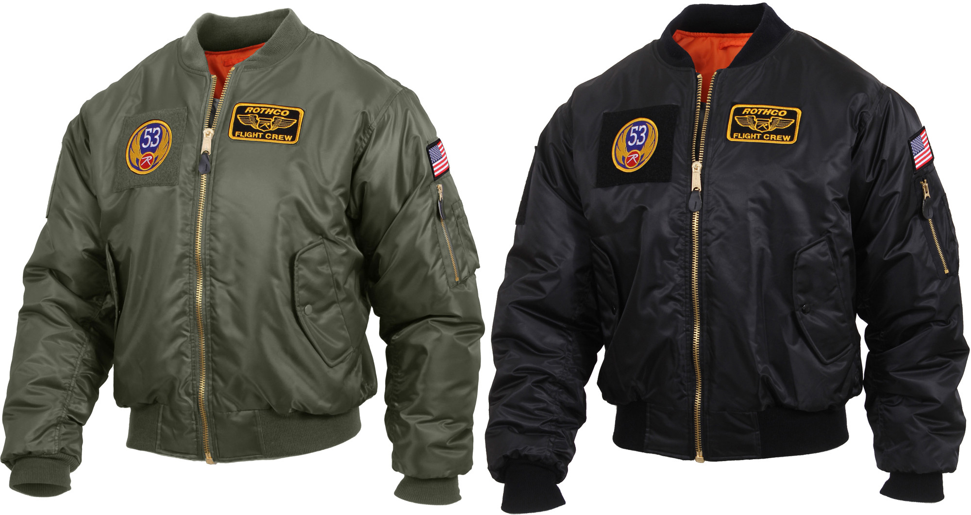 MA-1 Flight Jacket with Patches 49ab3709368