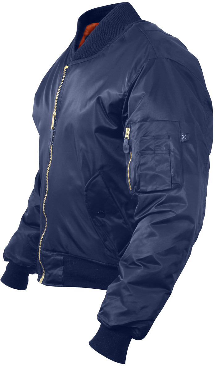 Navy Blue Military Air Force MA-1 Bomber Flight Jacket f682dad501d