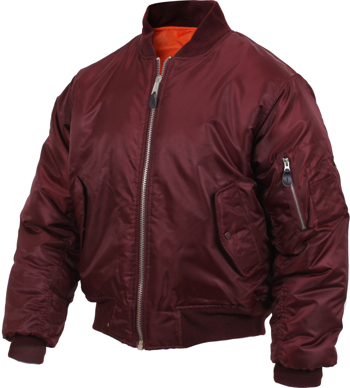 Maroon Military Air Force MA-1 Flight Jacket 247ebafc5b1