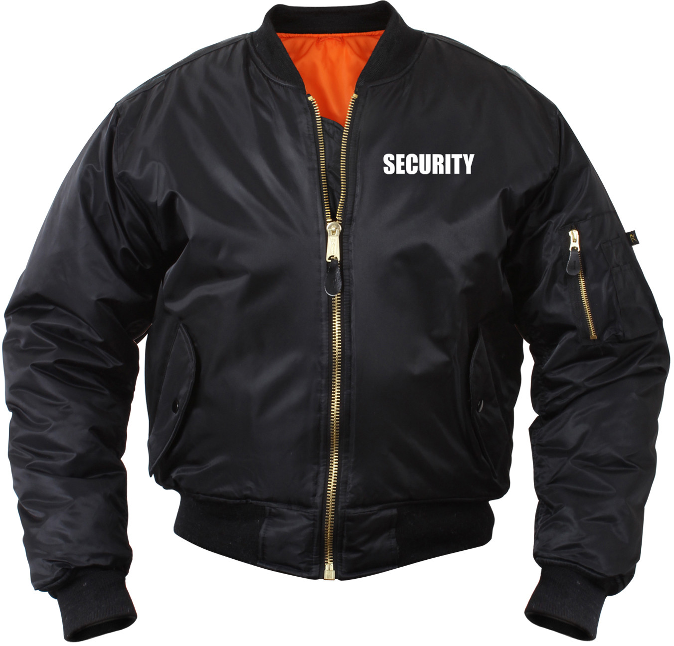 Black Law Enforcement MA-1 Tactical Reversible Security Flight Jacket 66acb9fdfdf