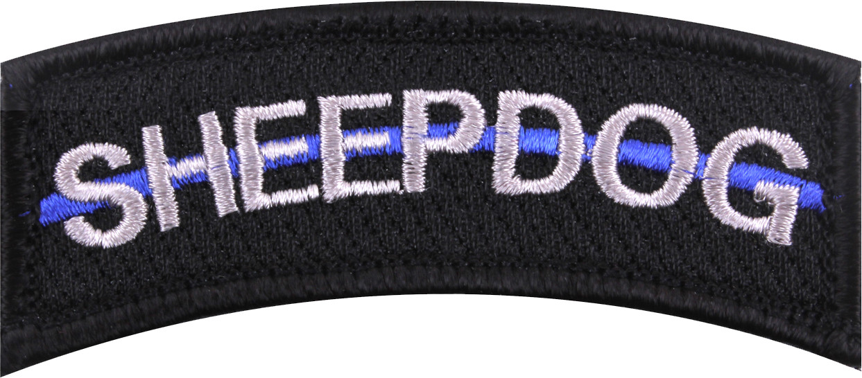 Sheepdog Thin Blue Line Support The Police Hook   Loop Patch 3