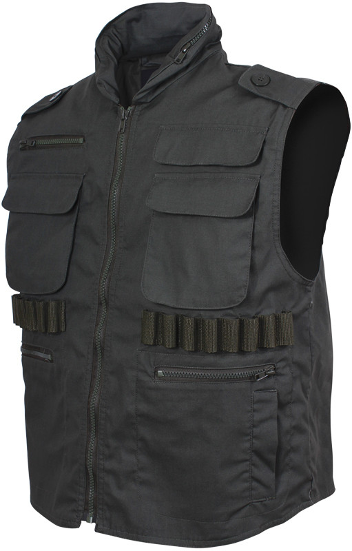 Black Military Tactical Hooded Ranger Vest 80c9998edb9