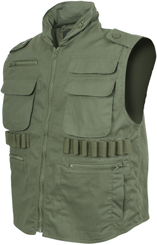 Olive Drab Military Tactical Hooded Ranger Vest 02ccceec53a