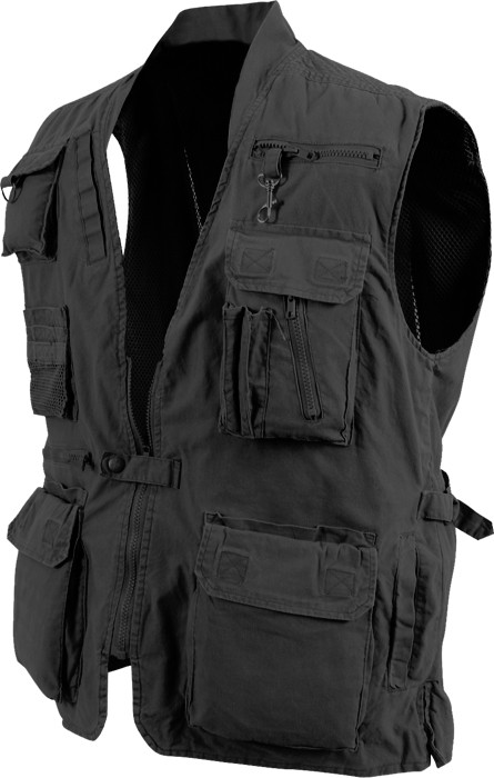 Be safe and comfortable every time you ride wearing our genuine black denim Motorcycle Club vest featuring two large gun pockets with elastic straps, a large zippered pocket on the left, and a smaller slip pocket on the right so you can carry handguns and ammo clips safely and securely.