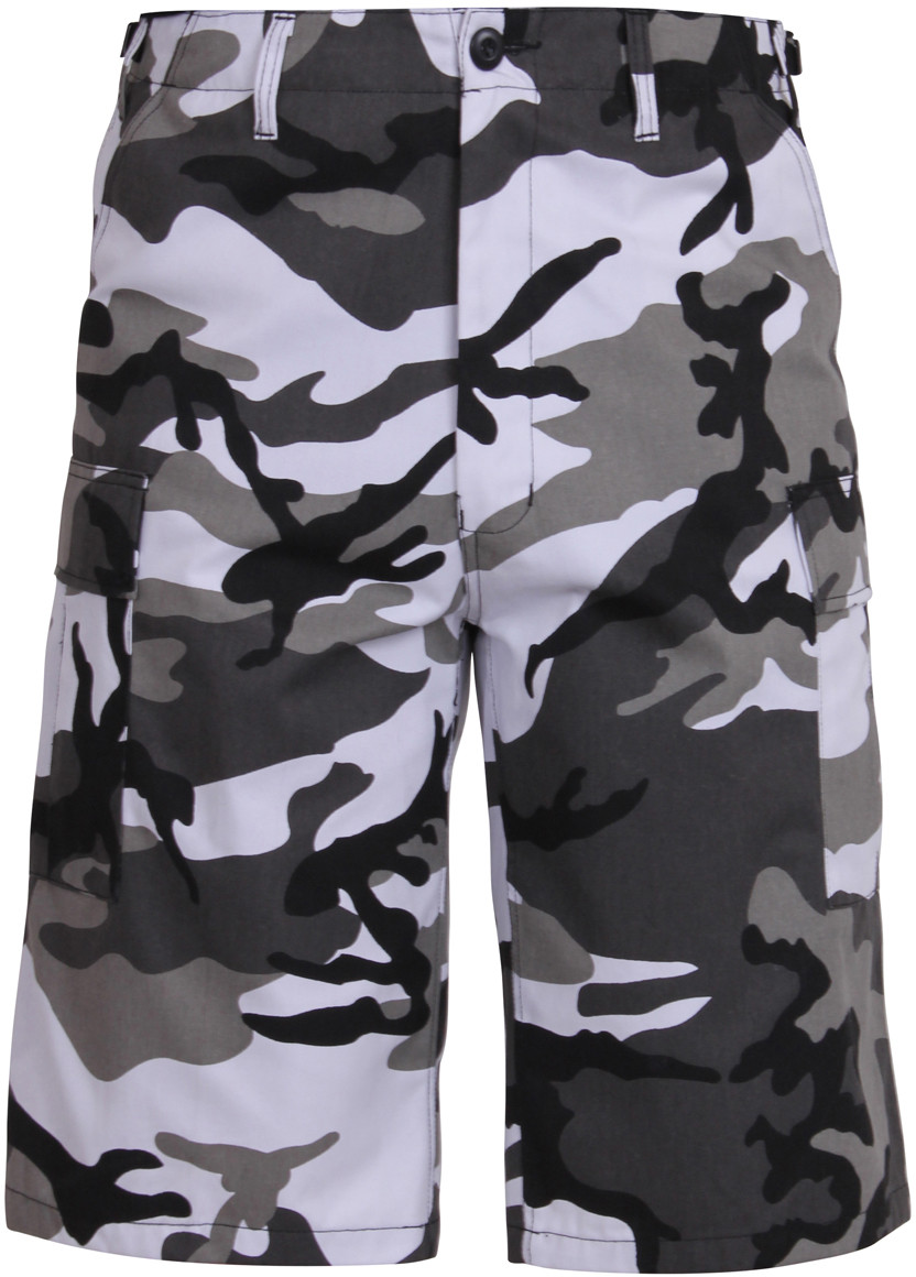 City Camouflage Military Long BDU Cargo Shorts 6246228b42a