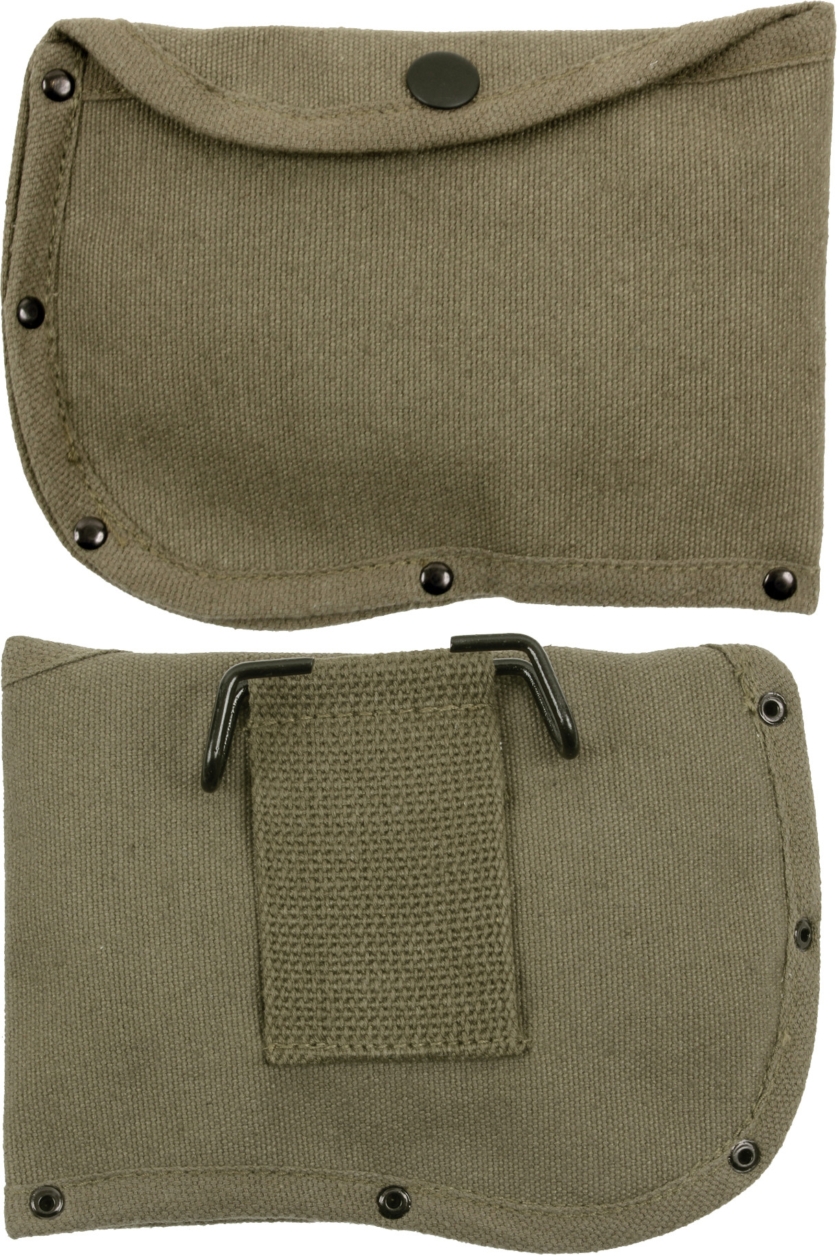 olive drab canvas 6 camping side axe sheath with belt loop
