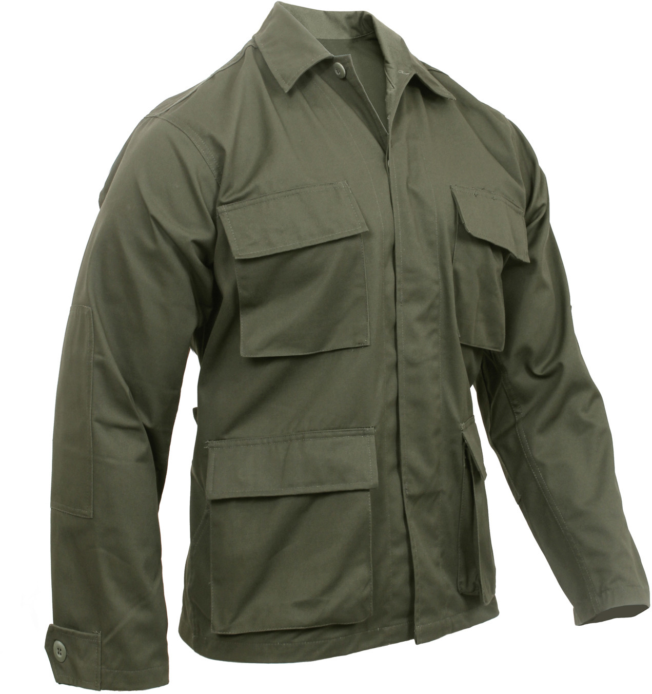 Olive Drab Military Polyester Cotton Fatigue BDU Shirt e6a5f06c1f0
