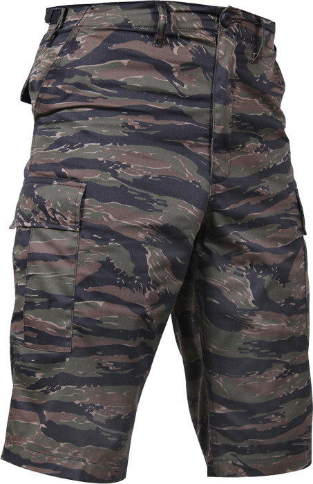 Tiger Stripe Camouflage Military Long BDU Cargo Shorts 22c3a3226c0