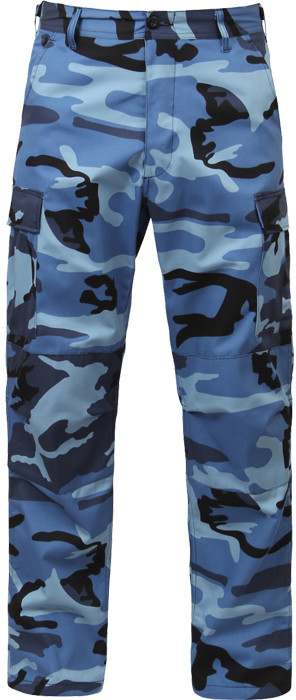 Sky Blue Camouflage Military Cargo BDU Fatigue Pants 2d7a01ae110
