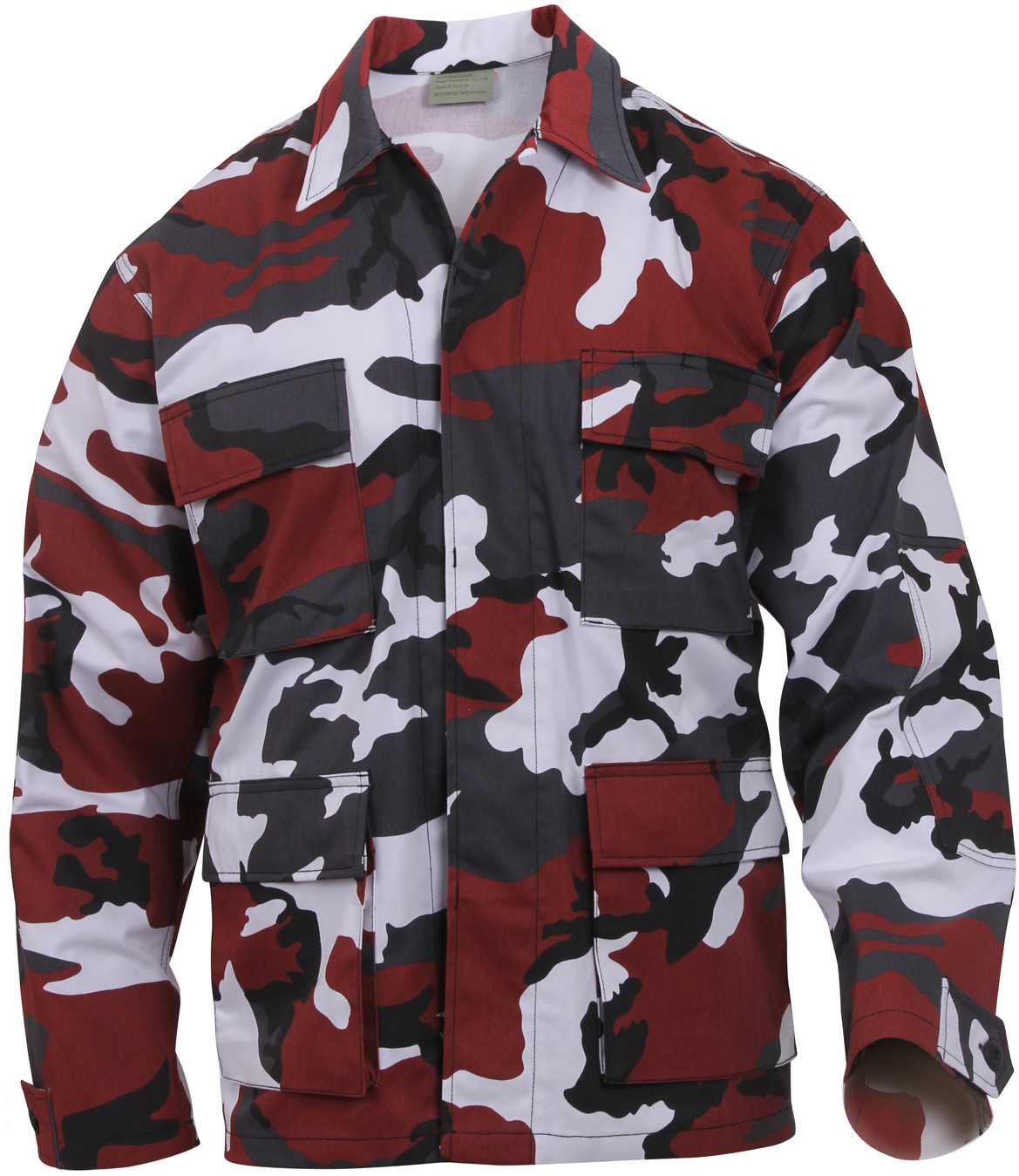 Red Camouflage Military BDU Fatigue Jacket Tactical Coat Shirt 133bf469980