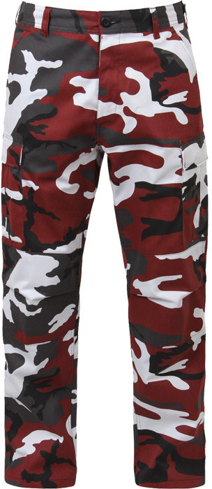 Red Camouflage Military Cargo BDU Fatigue Pants b1bbd7803c6