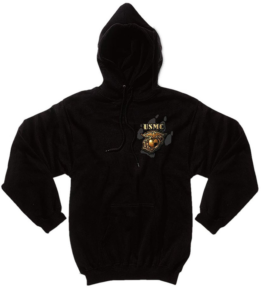 Black USMC Marines Devil Dog Sweatshirt 79460ab88eb