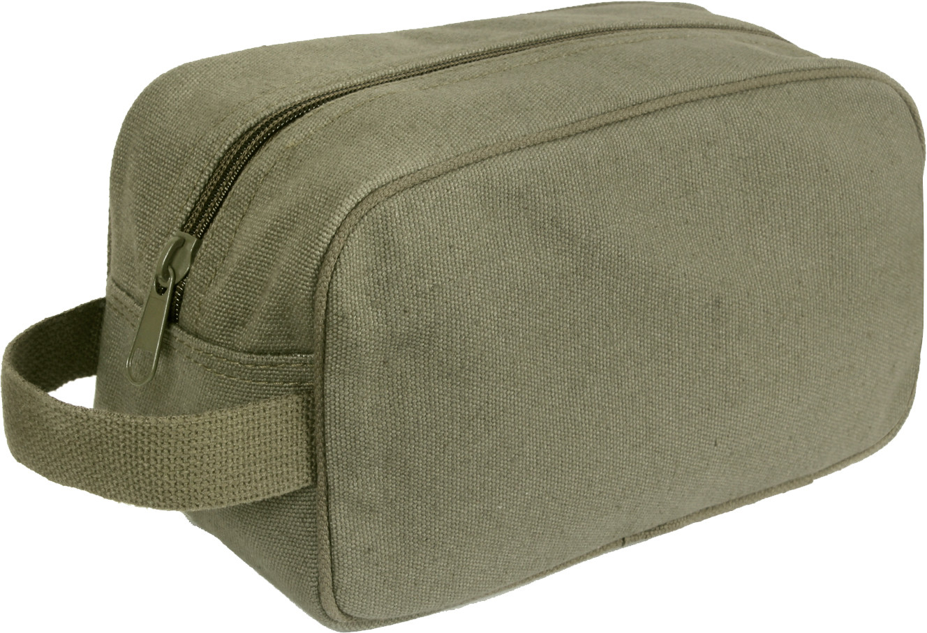 0be8ddfef42b Olive Drab Heavy Canvas Travel Kit Toiletry Case
