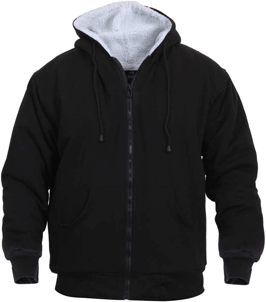 More Views. Black Sherpa-Lined Zip Up Hoodie Sweatshirt ... f2923adceee