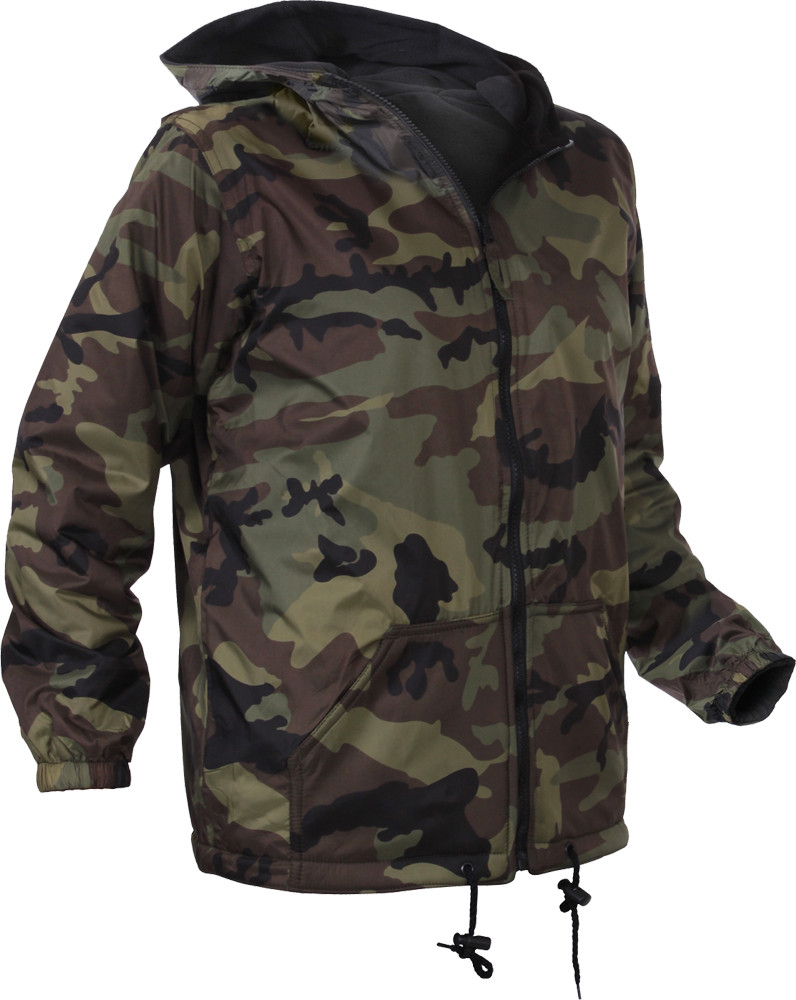 More Views. Woodland Camouflage Kids Tactical Reversible Fleece Jacket 1e11fbdd8dc