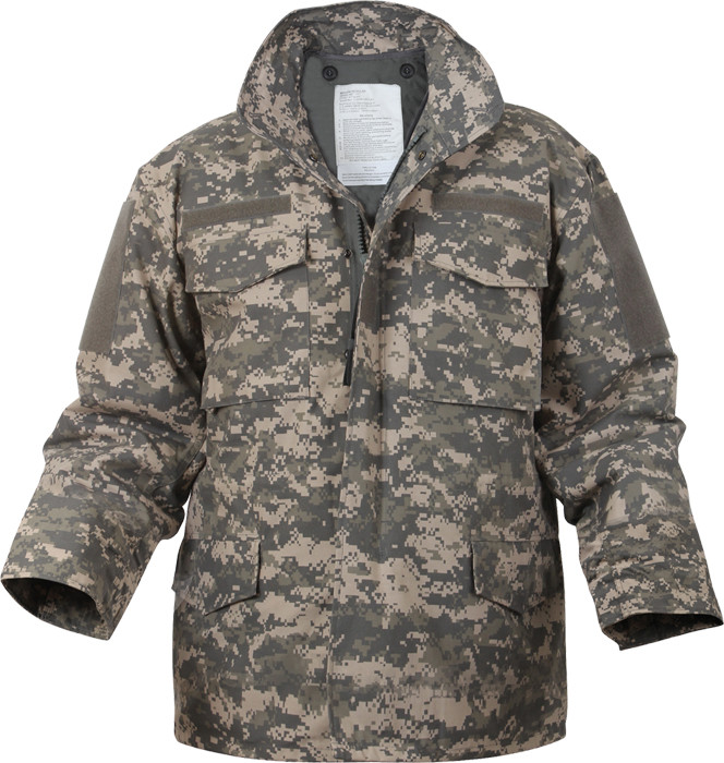ACU Digital Camouflage Military M-65 Field Jacket 5f9a7eaa21b