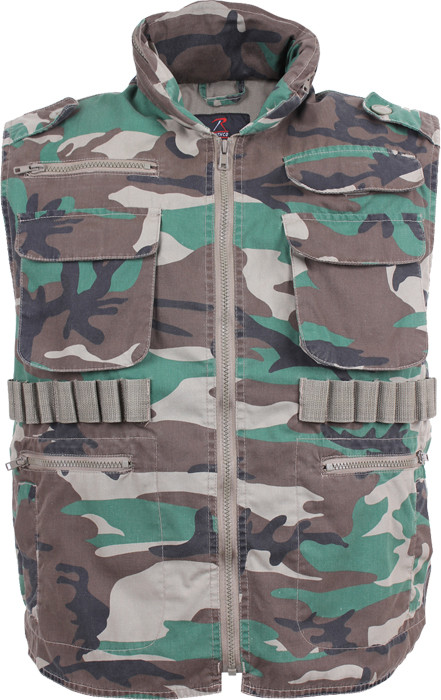 More Views. Woodland Camouflage Vintage Military Ranger Tactical Vest ... 216730b28c3