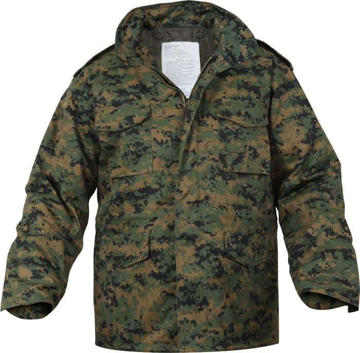 Digital Woodland Camouflage Military M-65 Field Jacket 12746d6f02f