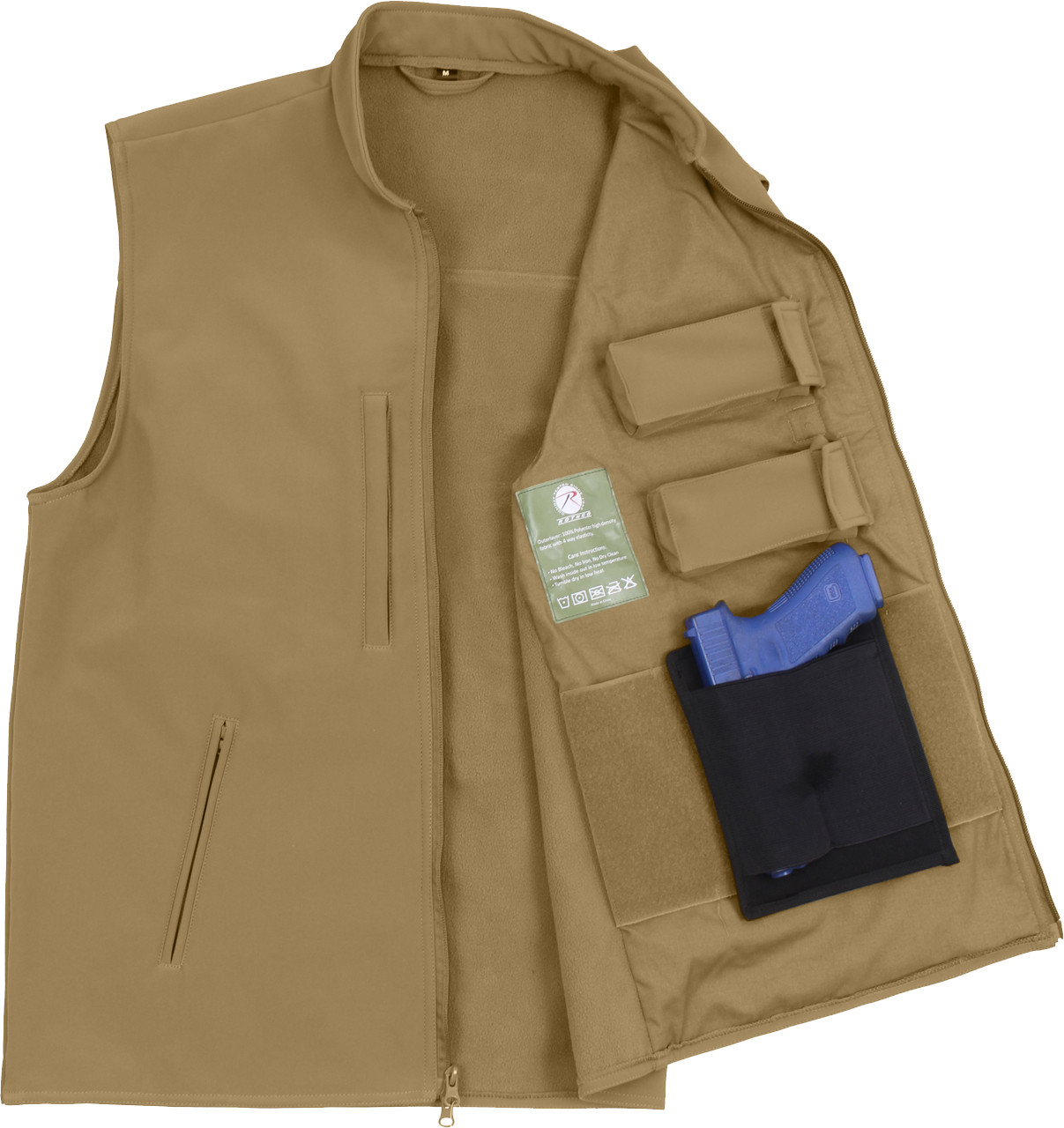 Coyote Brown Military Concealed Soft Shell Tactical Carry Vest 1c598455214