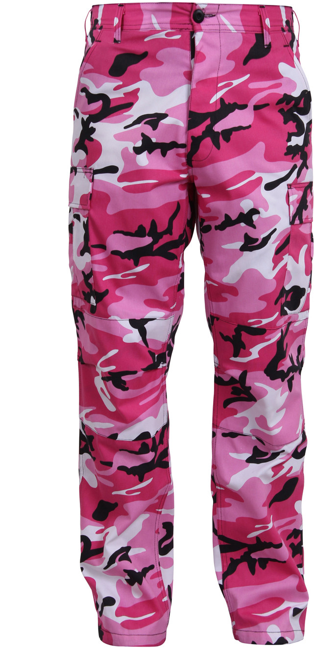 Pink Camouflage Military Cargo BDU Fatigue Pants 9e11ce53200