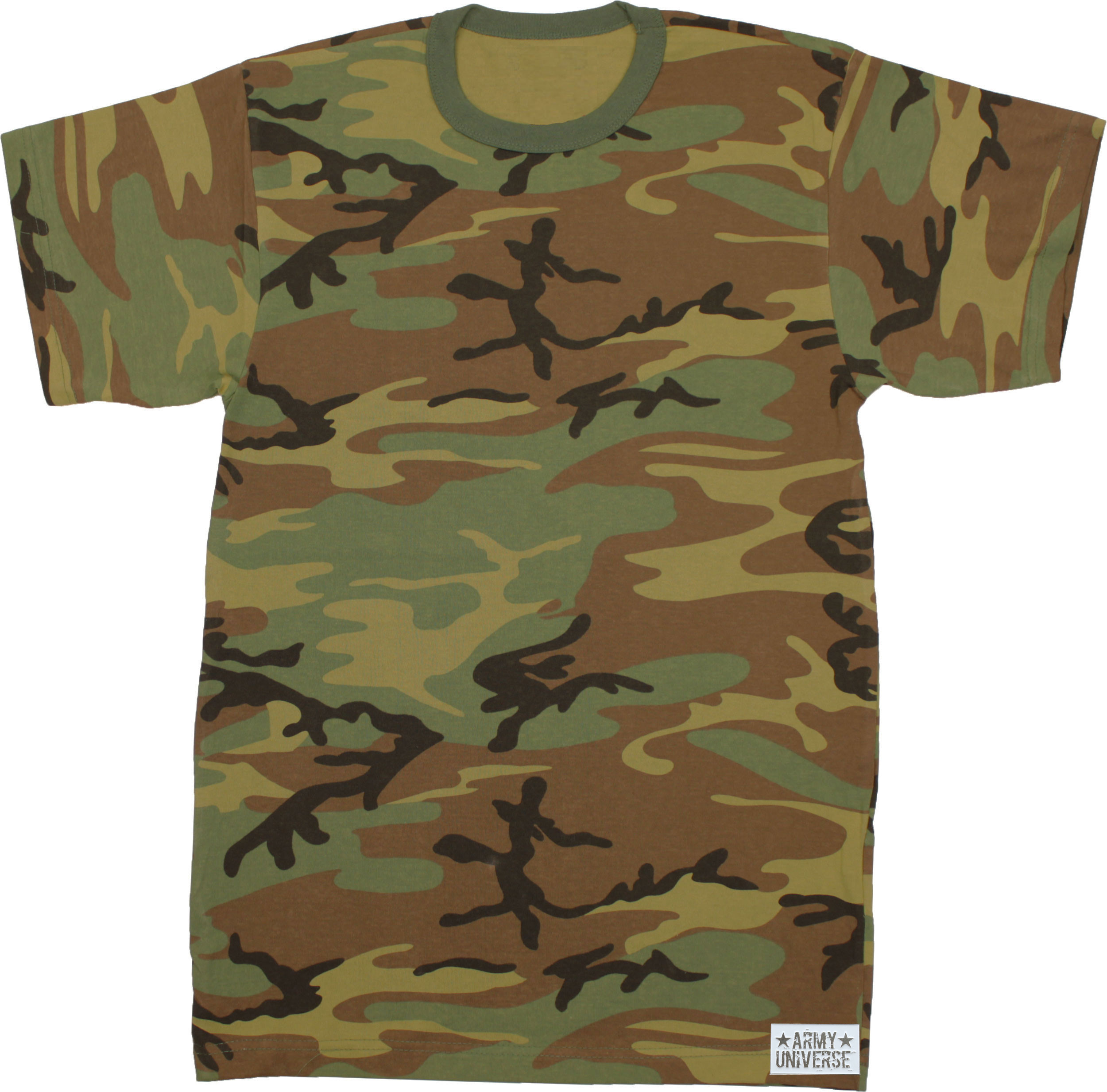 Camouflage military crewneck short sleeve t shirt w for Camouflage t shirt design