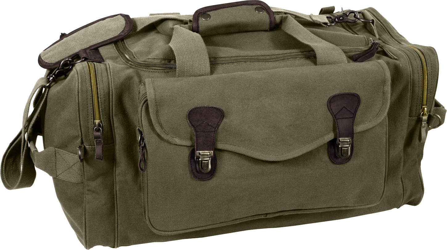 More Views. Olive Drab Extended Stay Canvas Weekend Travel Shoulder Duffle  Bag 479f9b2661a