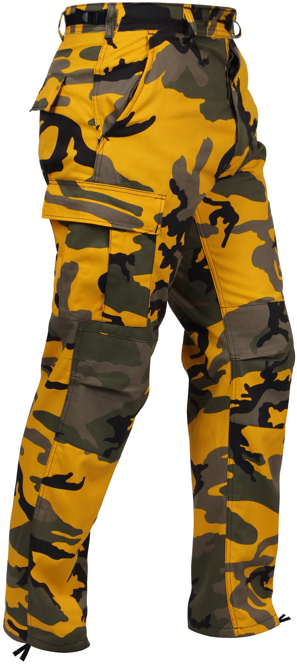 Stinger Yellow Camouflage Military Cargo BDU Fatigue Pants bad812b8448