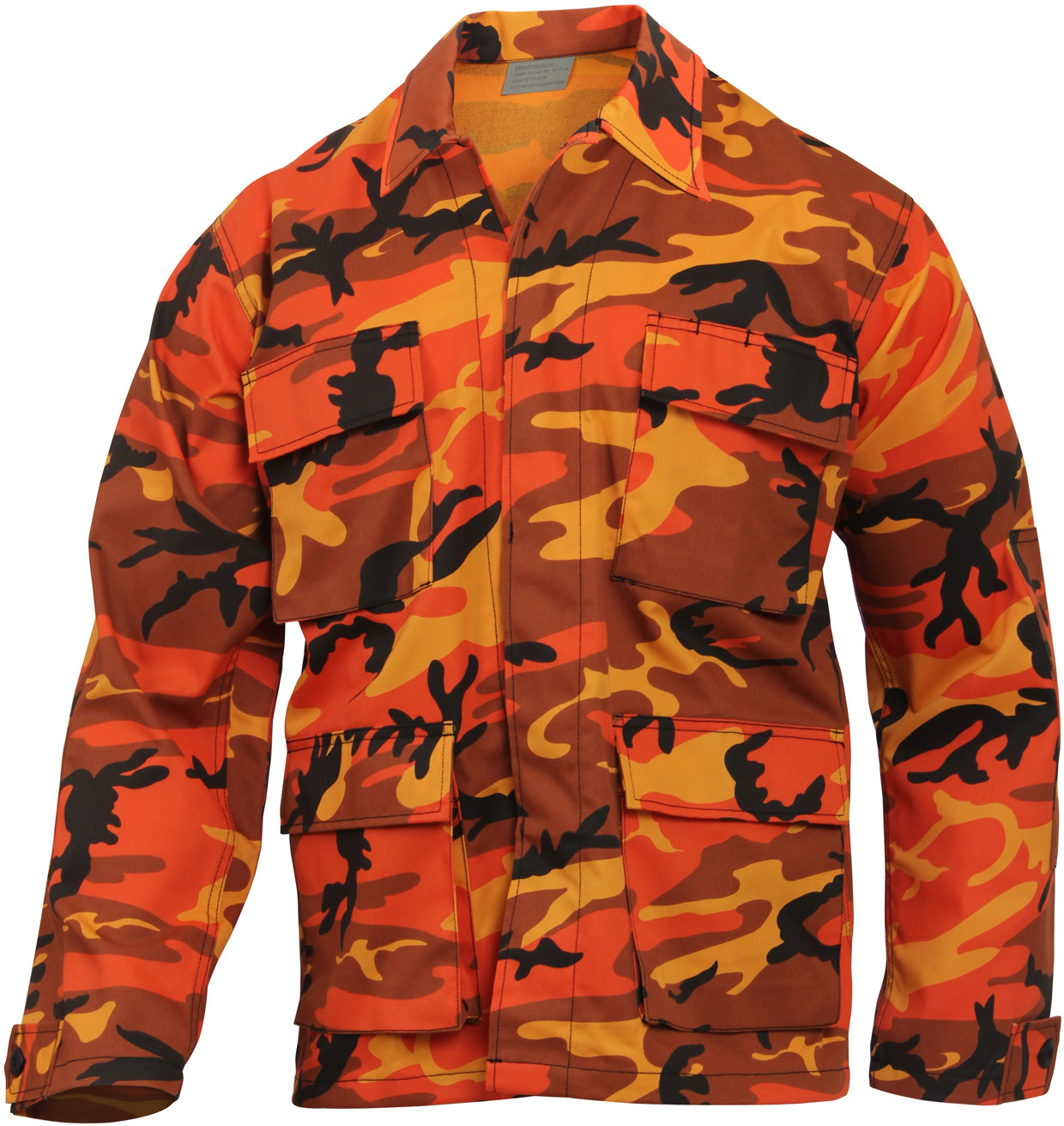 Savage Orange Camouflage Military BDU Fatigue Jacket Tactical ... eadd3493c94