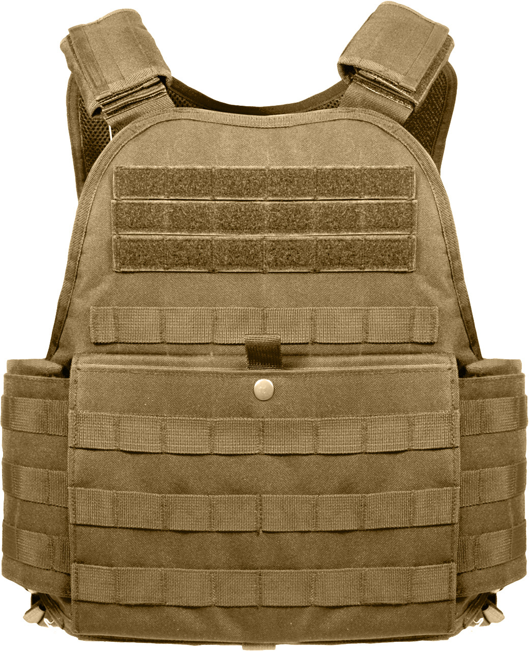 Coyote Brown Tactical MOLLE Plate Carrier Assault Vest 2fe413d4007