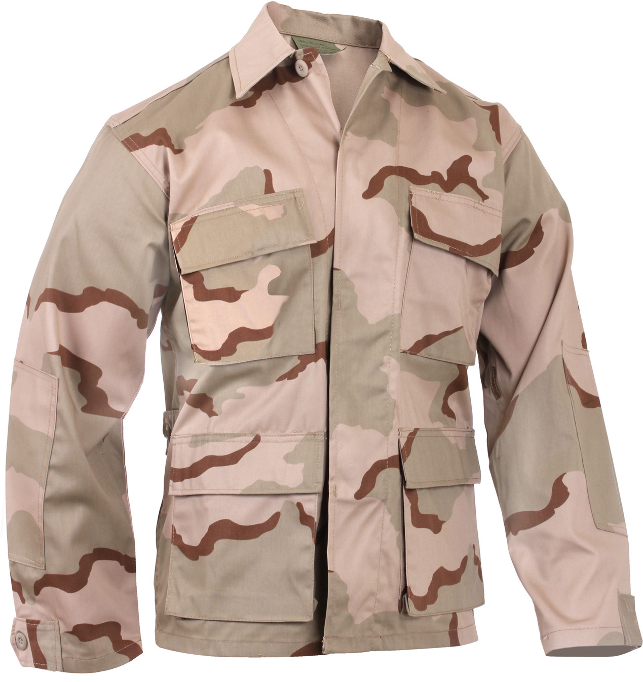 Tri-Color Desert Camouflage Military BDU Fatigue Shirt 8b93effff3
