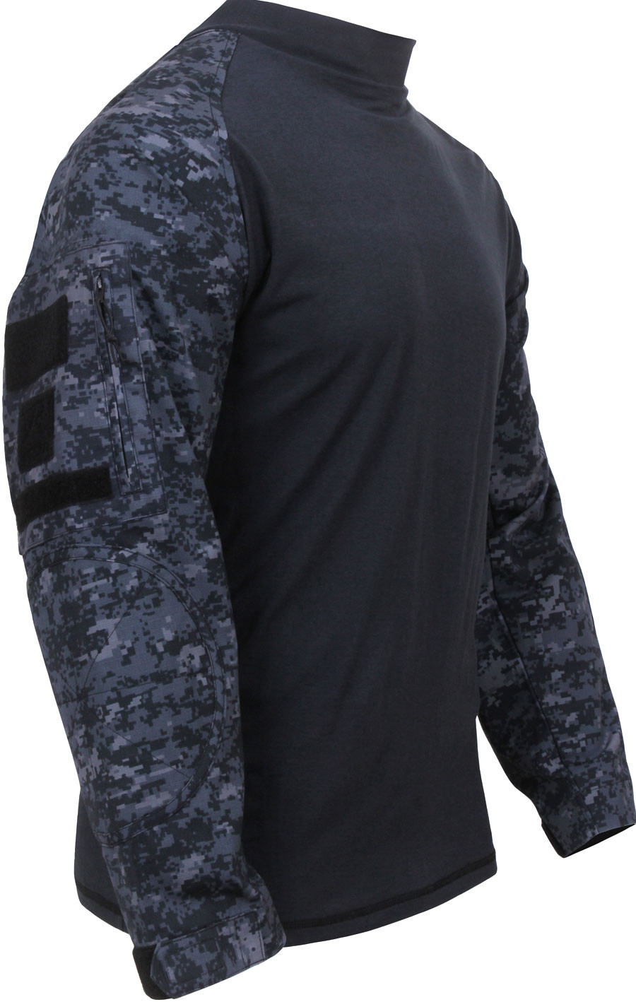 Midnight Digital Camouflage Military Long Sleeve Tactical Combat Shirt 45bb5973ed8