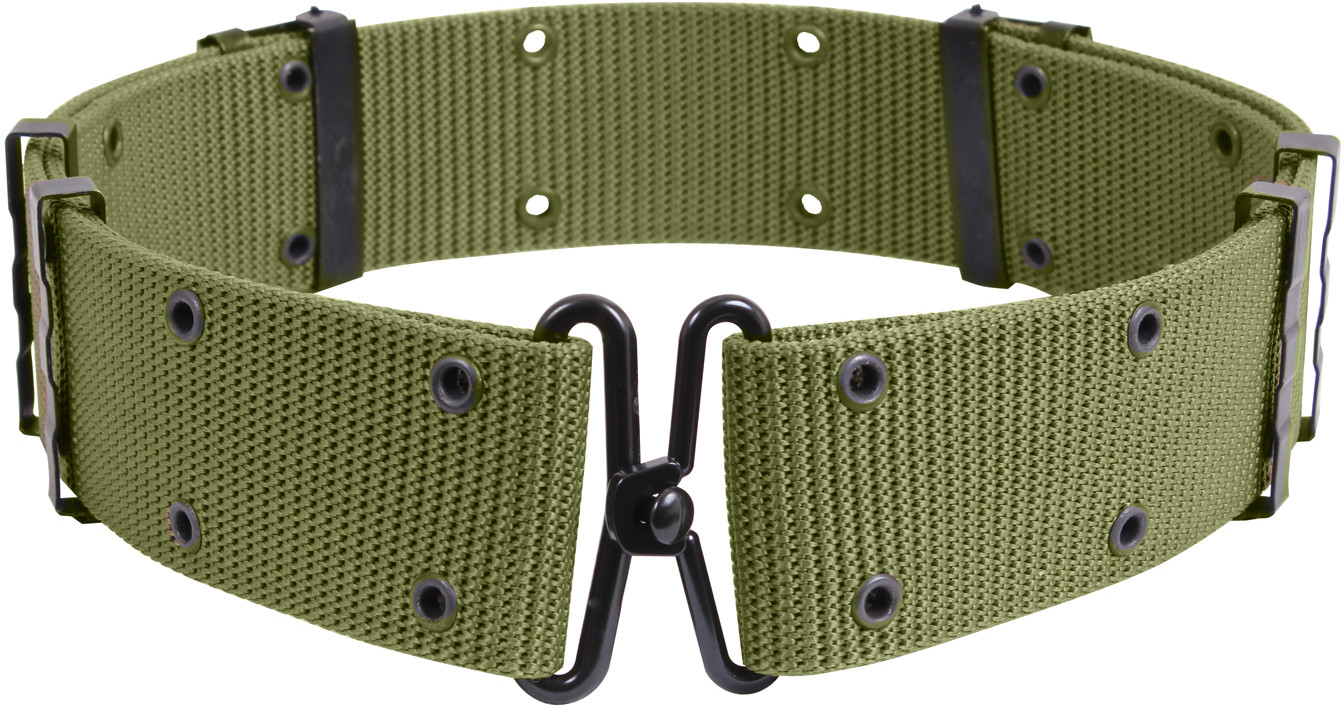 Olive Drab Classic Military Pistol Belt with Metal Buckle ade8c1198
