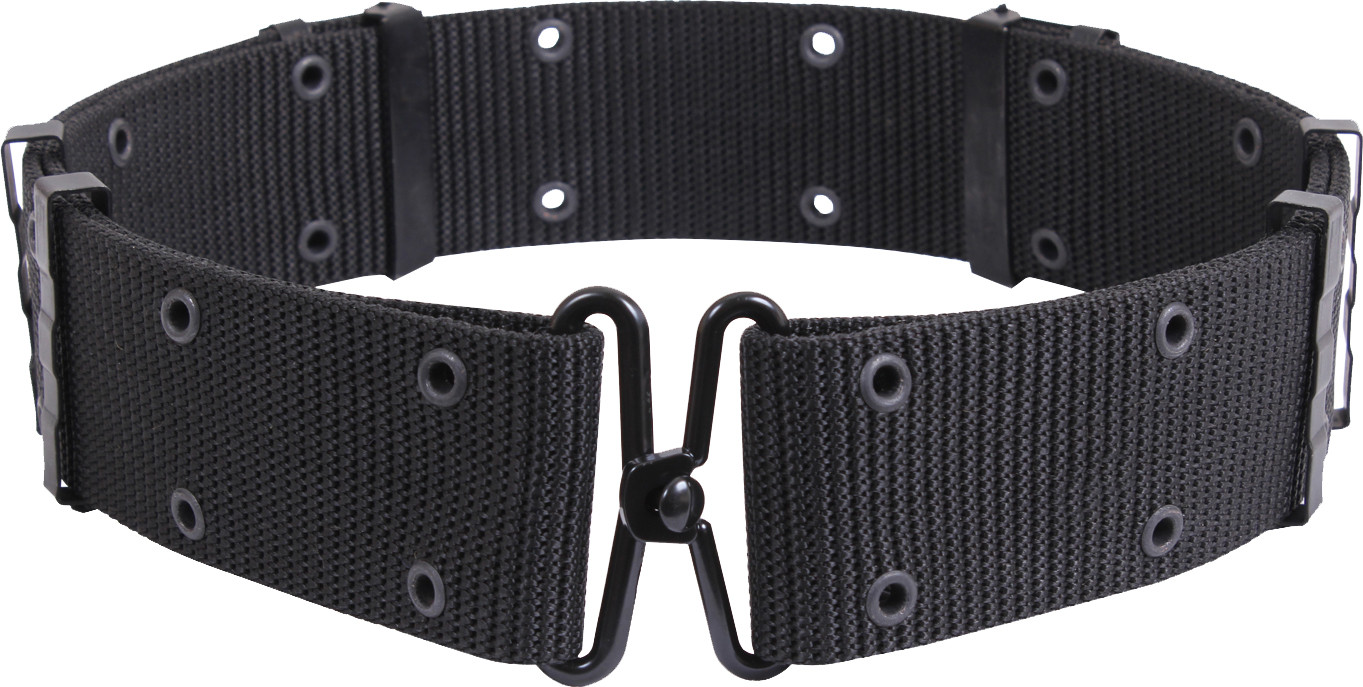 Black Military Metal Buckle Utility Pistol Belt 087bcc700ef