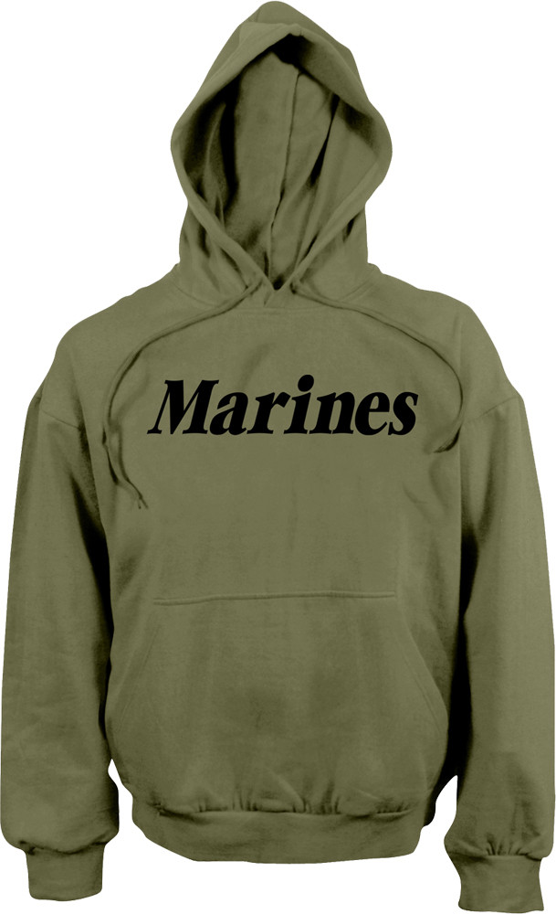 More Views. Olive Drab Marines Physical Training Hooded Sweatshirt 22411c59249