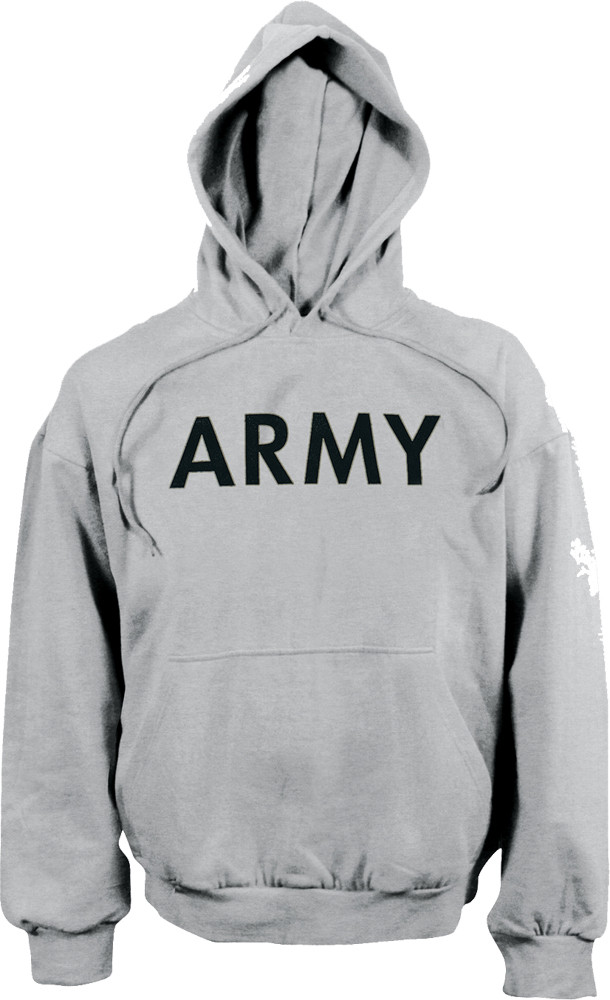 More Views. Grey ARMY Physical Training Hooded Sweatshirt 8c66e6ea987