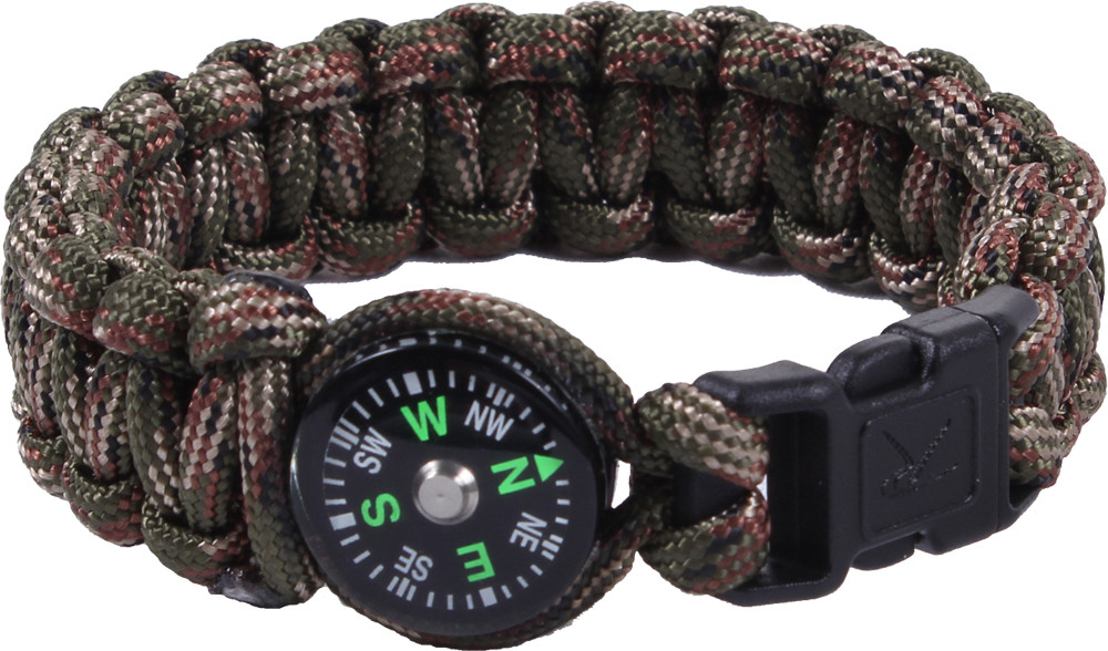 More Views. Woodland Camouflage Survival Paracord Cobra Bracelet w  Buckle    Compass 9b6b1c62d9e