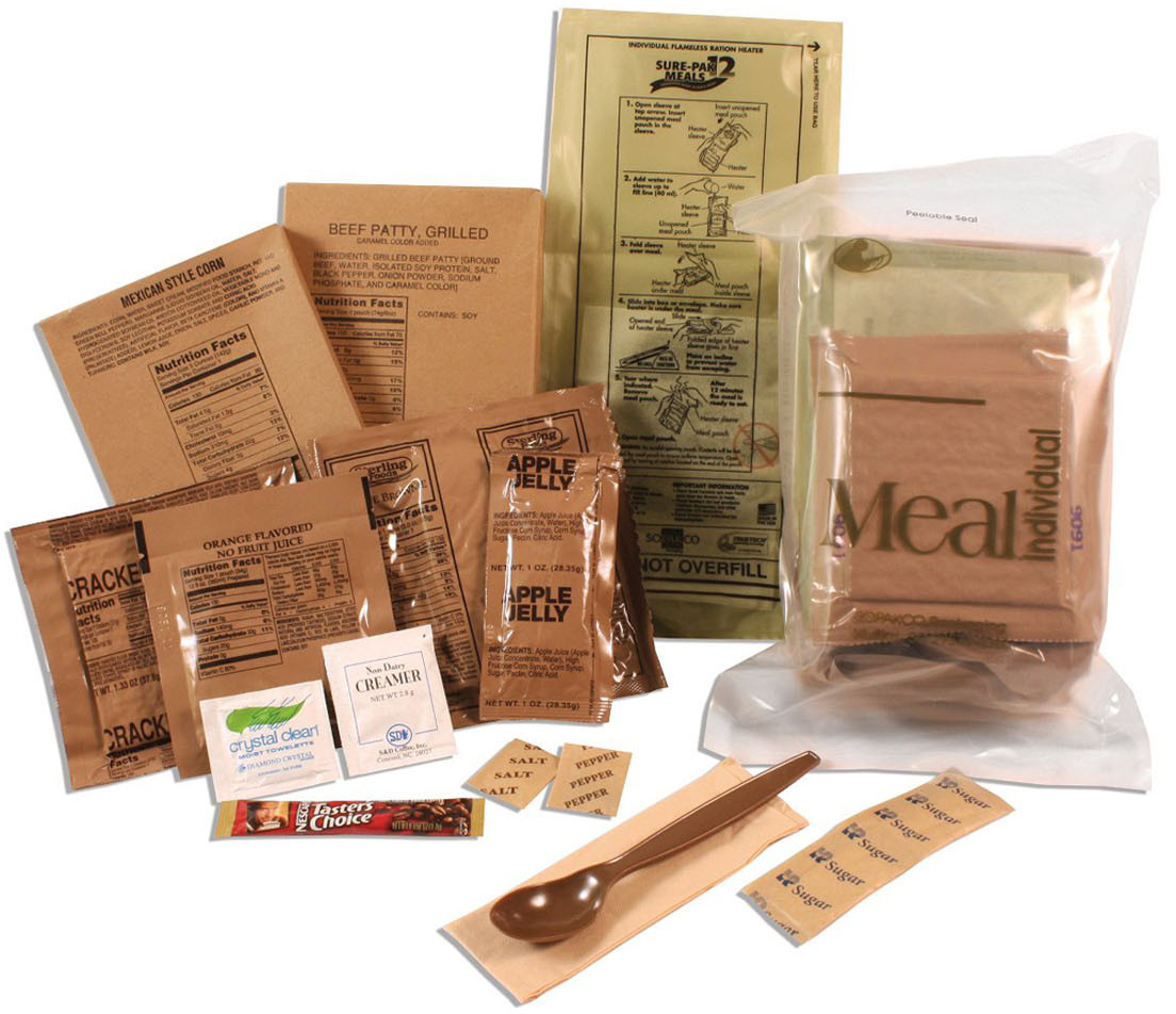 Sure-Pak MREs (Meals Ready-to-Eat) Genuine GI U.S. Military Surplus with  Heaters - 12 Meals d5c0a7dbdaa