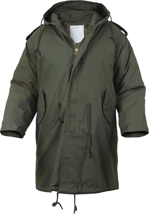 Olive Drab M-51 Fishtail Military Parka Insulated Jacket w  Liner   Hood b4d2dfd03a7