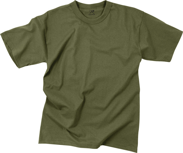 Olive Drab Moisture Wicking Plain Solid Military T-Shirt 41d61be3697
